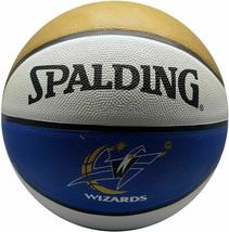 Spalding NBA Washington Wizards Team Colors Logo Basketball Full Size Ga... - $18.94