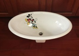 Disney Mickey Mouse Playful as a Mouse Kohler Sink RARE Minnie K2220 image 1