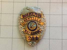 Obsolete Danville California Police Department Policeman Badge #211 - $250.00