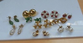 Avon Vintage Lot of 10 Pairs of Pierced Earrings - $54.45