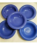 5 Carlisle Melamine Durus 8oz Rimmed Bowl Restaurant Dessert Cereal Blue... - $33.95