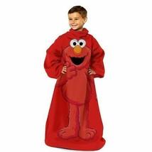 Sesame Street 'Elmo' Comfy Throw Blanket w/Sleeves Wrap Around Warm Soft... - $11.99