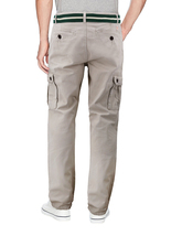 Men's Casual Cotton Multi Pocket Work Trousers Army Cargo Pants With Woven Belt image 3