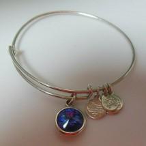 Alex and Ani Silver-tone Blue Stone Bracelet - $23.76