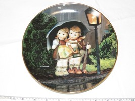 The M J Hummel Plate Collection Little Companions Stormy Weather Plate #... - $39.59