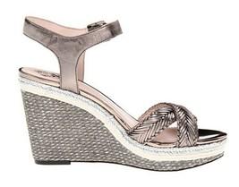 Women's Shoes Vince Camuto TADETA 2 Open Toe Wedge Sandals Steel Metallic - $67.49