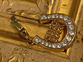 Juicy Couture Bracelet Charm Good Luck Horseshoe Pave Crystals New No Box - $29.25