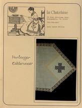 Hardanger Tablerunner La Chatelaine Pattern Leaflet NEW - $2.67