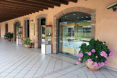 BRACCIALE ORO BIANCO ROSA 18K 750, ROMBI ONDULATI, FINEMENTE LAVORATI, ITALY