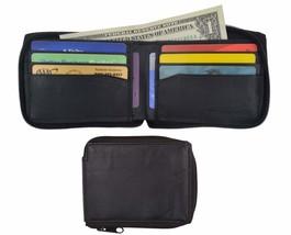 Lambskin Leather Zip Around W/Outside ID Bifold Wallet 1574 - $7.99