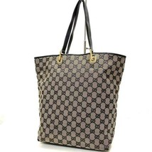 GUCCI GG Logo Mark Tote Bag Leather Women's From Japan Genuine USED - $331.00