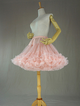 Women Girl Tiered Tutu Skirt Outfit Plus Size Puffy Party Tutu Skirt Blush Pink  image 8