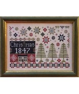 Coverlet Christmas cross stitch chart The Scarlett House - $12.60