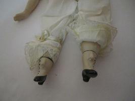 Elegant Repro Porcelain Brunette Doll Orange & Paisley Dress GORGEOUS! image 6