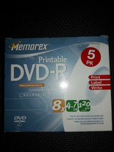 Memorex DVD+R 5 Pack 8X 4.7GB Recordable 120 Min New sealed - $5.94