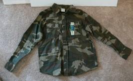 Cherokee Boys Button Down Green Camo Shirt Size L 10-12 nb - $8.00