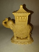 Vintage Indian Elephant Carved Soapstone Figurine Statue - $29.69