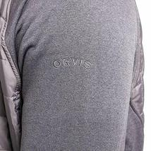 Orvis Men's Charcoal Gray Mixed Media Zipper Quilted Jacket Size Large NWT image 4