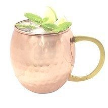 BIG SALE OFFER Hammered Pure Copper Mug for Moscow Mules 15.2 oz /450 ml - $21.99