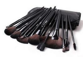 Set of 24 Professional Makeup Brush Cosmetic Brush Fiber Hair Makeup Set BLACK