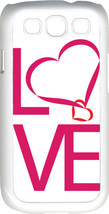 Valentine's Pink Love Text Samsung Galaxy S3 Case Cover - $13.95