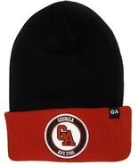 Georgia GA Patch Cuff Knit Winter Beanie Hat (Black/Red) - $13.95