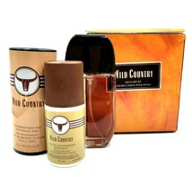 Wild Country Men's Cologne Spray 75g Deodorant Talc 50ml Roll-On Anti-Pe... - $30.50