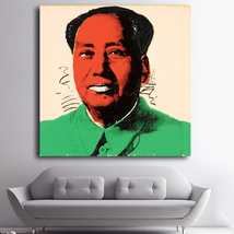 1 Pcs Andy Warhol Mao Zedong Poster Wall Picture Canvas Painting 24x24inch - $39.99