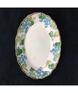 """Poppy Trail Metlox 1172 Sculptured Grape Oval Serving Platter 9.5"""" Blue Green - $24.74"""
