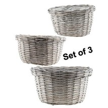 3/Set Gray Willow Baskets planters herbs gifting floral - $49.49