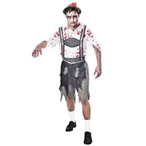 Amscan Mens Oktoberfest Zombie Halloween Fancy Dress Costume #eha - $34.89
