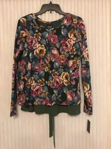 Wallpaper Floral Fleece W/ Now Back Size S Ships N 24h - $31.99