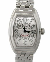 Franck Muller Conquistador 8005 LQZ Stainless Steel Watch with Box Papers - $4,094.85