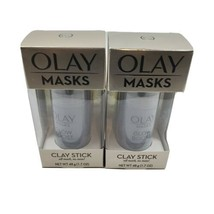 2X Olay Masks Glow Boost Clay Stick Facial Mask White Charcoal 1.7oz - $10.95