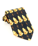 Rosary prayers black religious tie thumbtall