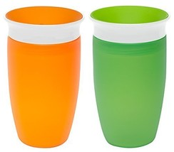 Munchkin Miracle 360 Sippy Cup, Orange/Green, 10 Ounce, 2 Count - $17.50