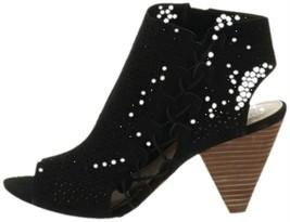 Vince Camuto Leather Peep-Toe Sandals Elison Black 9W NEW A310560 - $36.61