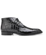 Belvedere  Stefano Ankle Men's Boots Genuine Alligator Lace Up Black R17 - $759.20