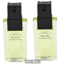 WHOLESALE LOT TWO Alfred Sung Sung 3.3oz  Women's Eau de Toilette TESTER... - $27.99