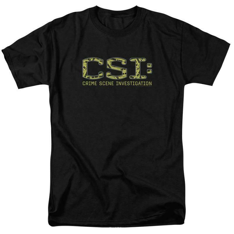 CSI t-shirt TV crime drama collage logo 100% cotton graphic tee CBS946