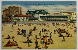 VTG Old Linen Era Postcard Atlantic Beach Hotel, Atlantic Beach, Florida... - $11.71