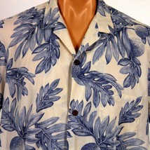 Royal Creations Hawaiian Aloha Shirt Mens XL Breadfruit Coconut Buttons - $20.56