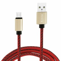 tecmac Micro-USB to USB Cable 1M Durable Faux Leather Braided Red - $44.68