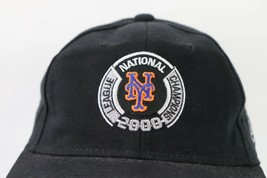 Vintage New New Era New York Mets 2000 National League Champions Strapback Hat image 2