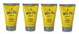 4 Pack Schwarzkopf Got2b Glued Styling Spiking Glue Water Resistant Tube... - $18.78