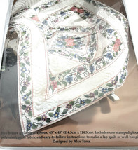 Bucilla Special Edition Stamped Cross Stitch Primavera Lap Quilt Wall Hanging  - $24.75