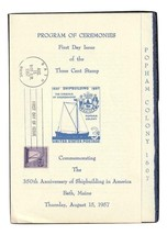 US Shipbuilding Scott # 1095 1957 First Day of issue Ceremony Program VF... - $5.00