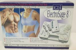 IGIA ElectroSage 8 muscle massage tens unit Open Box - £20.75 GBP