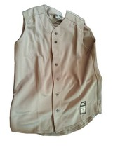 Mizuno Mens Gray Baseball Jersey Shirt Size M (may fit shirt size Large) - $9.90