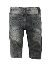 LR Scoop Men's Distressed Denim Fade Wash Slim Fit Moto Skinny Jean Shorts image 10